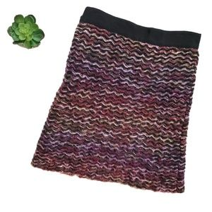Anthropologie Skirts - Knitted & Knotted Anthro Purple Sweater Mini Skirt